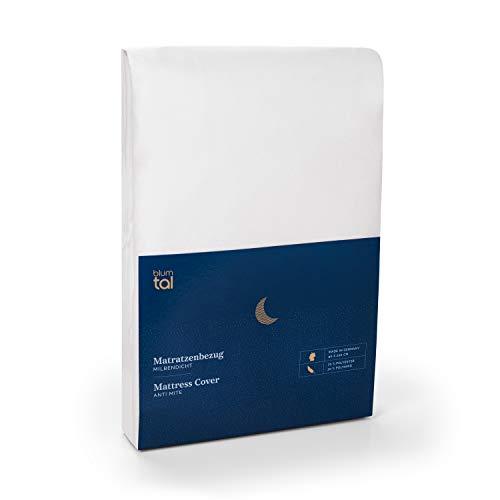 Blumtal Matratzenbezug für Allergiker 90 x 200cm, Milbenbezug - Matratzenschutz Encasing, atmungsaktiv