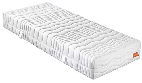 sleepling 7 -Zonen Kaltschaummatratze Wendematratze Bodyprotect 500 Duo Härtegrad 2 & 3 90 x 200 x 21 cm, weiß