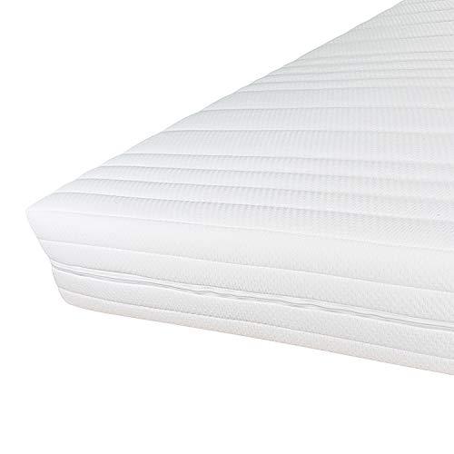 Hochwertiger Matratzenbezug 90x200cm mit Reißverschluss - Doppeltuch mit Klimafaser versteppt - Allergiker geeignet - Bis 60 Grad waschbar - 90 x 200