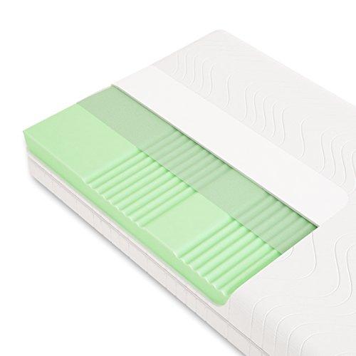 Schlummerparadies® hochwertige Matratze 7-Zonen HR-Kaltschaummatratze - Made in Germany - ca. 19cm Gesamthöhe, RG40, geprüfter Kern + Bezug - Optima Klassik (90x200cm, H3)