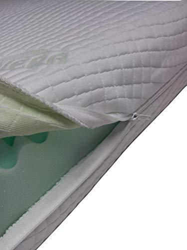 Mail2Mail Matratzenbezug Allergikergeeignet mit 4-seitigem Reißverschluss aloevera Easy clean, Matratzenschoner, Matratzenbezug alle Größen alle Höhe, (90 x 200 cm)
