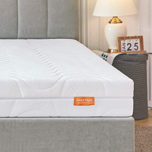 Sweetnight Matratze 140x200 H3 & H4 kaltschaummatratze Orthopädisch punktelastische Matratze 2 in 1 Liegehärten Rollmatratze mit waschbar Microfaserbezug 4 Seite Reißverschluss Höhe 18cm