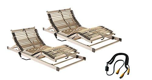 Komfort-Set 180 x 200 cm bestehend aus: 2 x Motorlattenrost Techno-Flex elektrisch verstellbar in 90 x 200 cm inklusive Synchonsteuerung – SOFORT LIEFERBAR