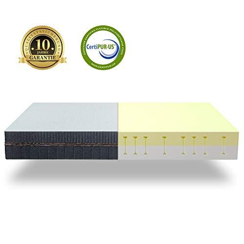 BedStory Orthopädische 7-Zonen Kaltschaum Matratze, Premium 140x200x18cm Kaltschaummatratze in Grau, 2 Härtegrade(H2 & H3) in Einer Matratze ergonomisch für alle Schlaftypen