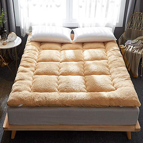 GWW Schlafen Tatami Stock Mat, Plüsch Verdicken Sie Japaner Kaltschaummatratze Weich Stereoscopic Schlafen Pad Falten Mat Lazy Bett Für Schlafsaal Home-b King