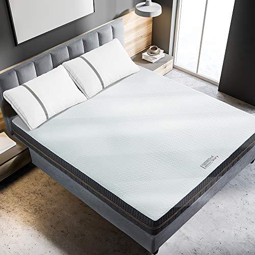 BedStory Matratze - 18cm Wellness Kaltschaummatratze Medium-7 Zonen Matratze 90 x 200 cm- Härtegrad H2 & H3-100 Nächte Probeschlafen-Grau